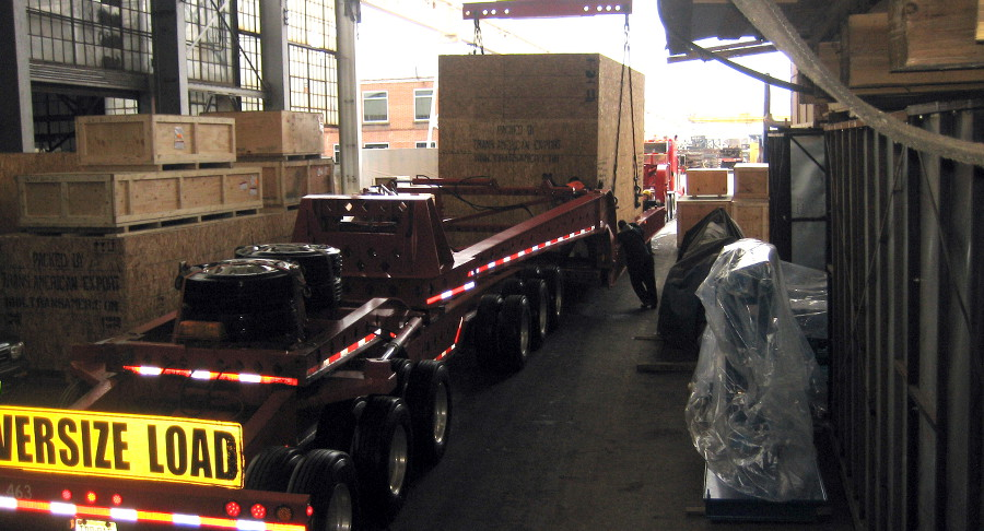 Heavy item packaged by Trans American Export Packing and Logistics